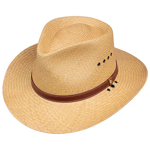 Panama Genuine Hat - Genuine Panama Hat Khaki Color 3 inch Brim USA Made No. 2 Medium