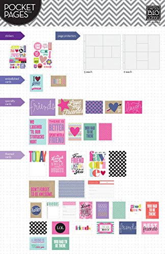 12-Inch by 12-Inch me /& my BIG ideas Pocket Pages Scrapbook Page Kit Love My Friends