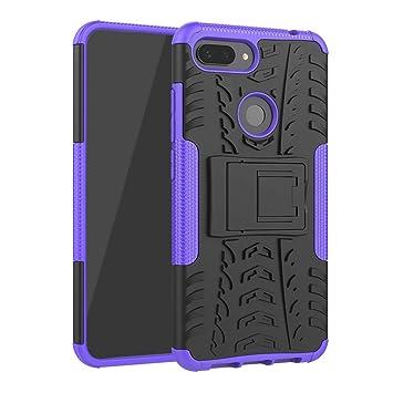 Abuenora Funda para Xiaomi Mi 8 Lite, Carcasa Antigolpes Robusta Case 360 Doble Capas Protector Resistente Golpes Caída Protección Fuerte con Soporte ...