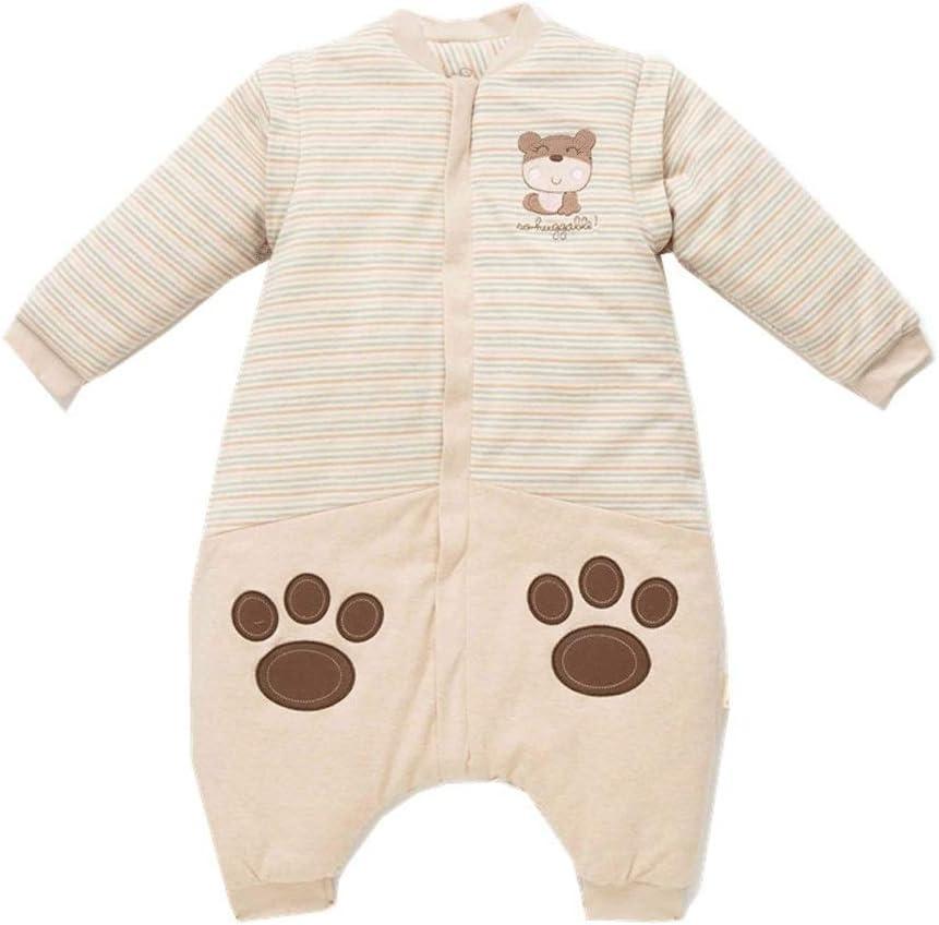 ベビー毛布 Houmian赤ちゃん寝袋取り外し可能な長袖男の子と女の子のために適した毛布を着用することができます。 新生児寝袋 (色 : ベージュ, Size : S)