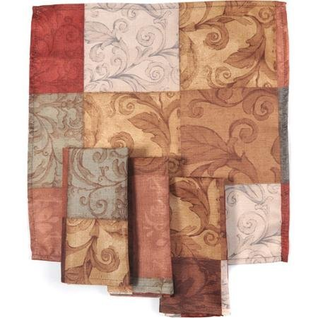 Mainstays Tuscany Kitchen Collection - Fabric Napkins (Set of 4) -