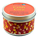 Candy Corn, Fall Scented Soy Candle Tin (6 oz), Halloween Candle
