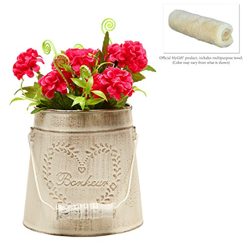 Mygift french country vintage style rustic metal garden