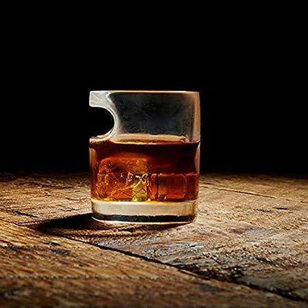 Oinna 1 vaso de whisky, brandy, vodka, cerveza y vaso de chupito de 320 ml, muy adecuado para los amantes de los puros, puros muy ligeros, adecuado para familias y bares.