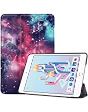 Guteck Smart Case Compatible for iPad Mini 5 - Tri-Fold Ultra Lightweight Standing Protective Smart Cover with Auto Wake/Sleep compatible for Apple iPad Mini 5 Tablet (Galaxy)