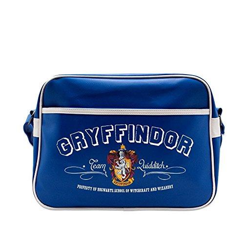 Harry Potter–Borsa a tracolla–Borsa messenger Blu–Gryffindor Stemma–logo