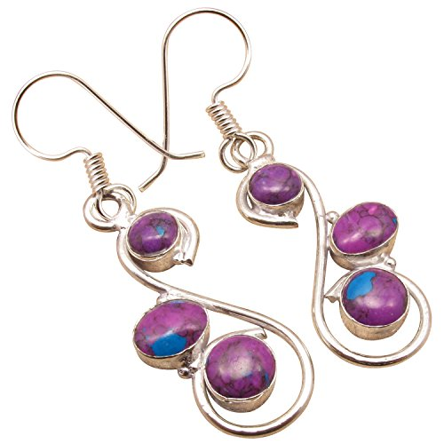 925 Sterling Silver Plated Multi-Gemstone EARRINGS ! Artisan Affordable Jewelry ! Factory - Gemstones Silver Plated Multi