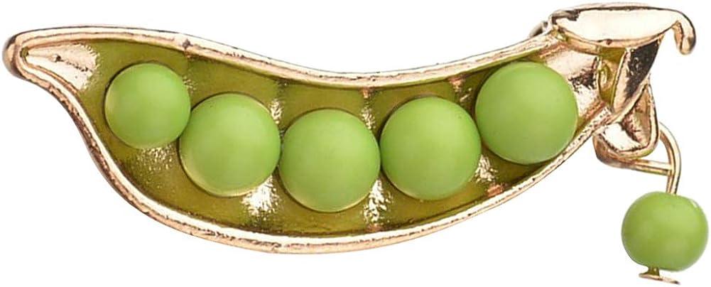 Le yi Wang You Green Fake Pearl Pea Plant Vegetable Brooch Pendant DIY Handmade Jewelry Necklace Earrings