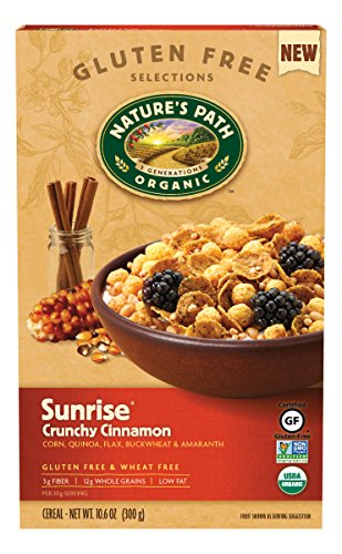 Nature's Path Gluten Free Sunrise Crunchy Cinnamon Cereal, 10.6 Ounce (Pack of 6)