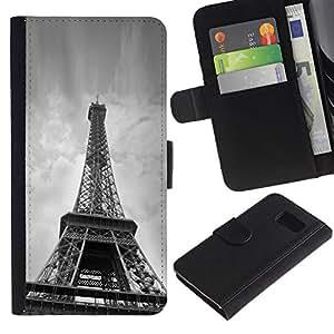 All Phone Most Case / Oferta Especial Cáscara Funda de cuero Monedero Cubierta de proteccion Caso / Wallet Case for Samsung Galaxy S6 // Architecture Eiffel Tower Below