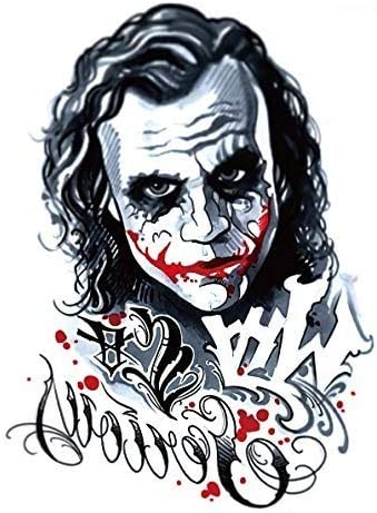 tatuaje falso de Joker para festivales, tatuajes, tatuajes ...