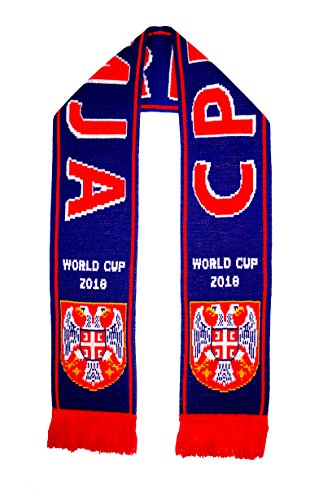 Serbia World Cup (SERBIA 2018 World Cup Acrylic Knitted Scarf - BLUE)