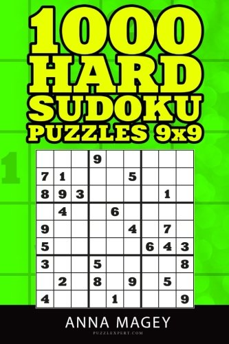 - 1000 Hard Sudoku puzzles 9x9: Sudoku Puzzle Book for Adults (1000 puzzles) (Volume 5)