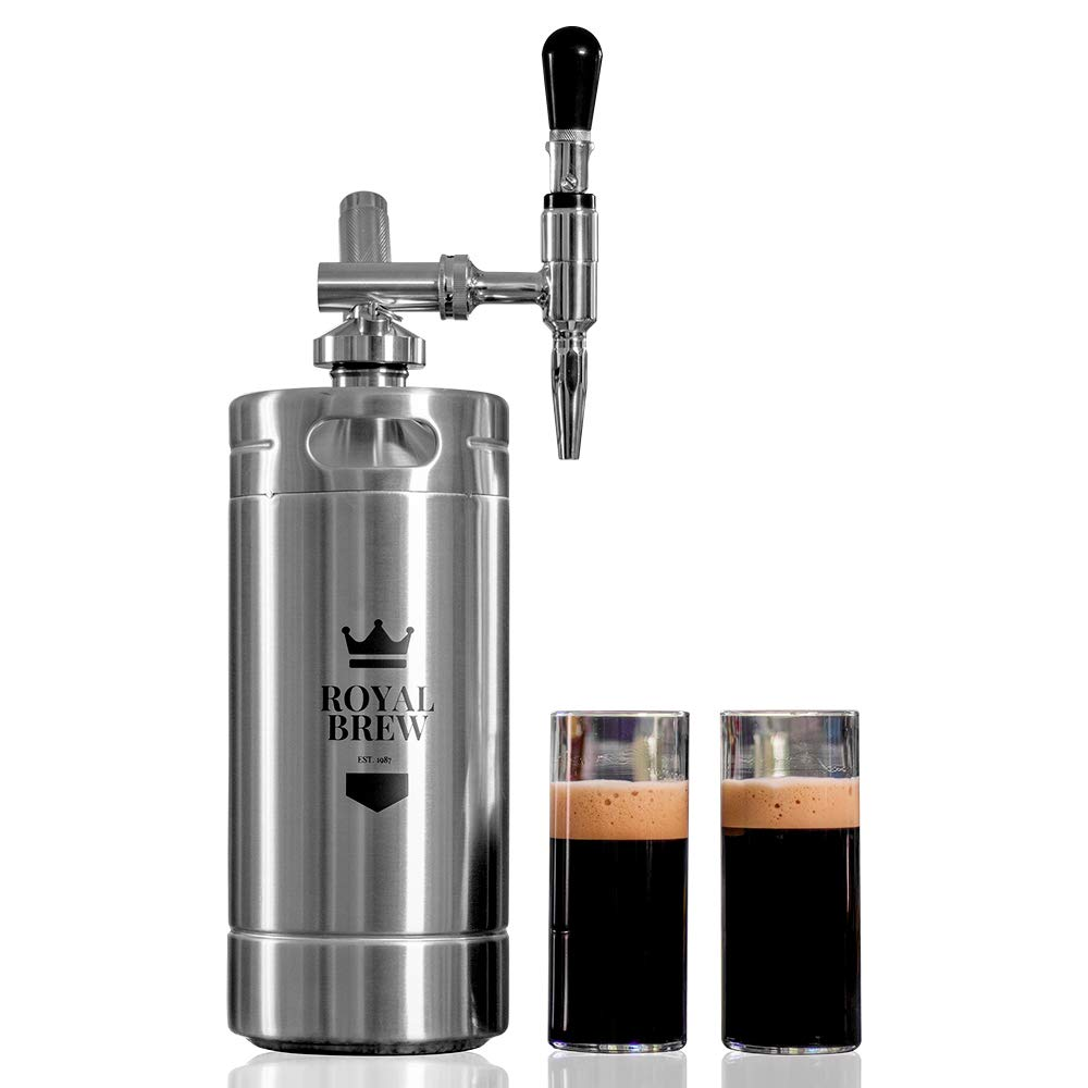 Royal Brew Nitro Cold Brew Coffee Maker Home Keg Kit System Stainless Steel 128 oz