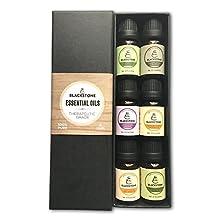 Blackstone 100% Pure Essential Oils - Eucalyptus, Tea Tree, Lavender, Peppermint, Lemongrass, Sweet Orange