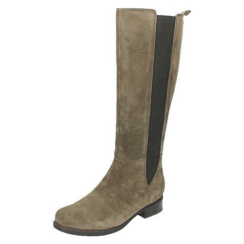 Clarks 261218424 Stivali Alti da Donna, colore Grigio (grigio Suede