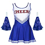 Jojobaby Women's Musical Uniform Fancy Dress Costume Complete Outfit (Medium, Blue)