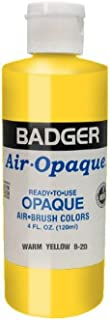 product image for Badger Air-Brush Company Air-Opaque Airbrush Ready Water Based Acrylic Paint, Warm Yellow, 4-Ounce