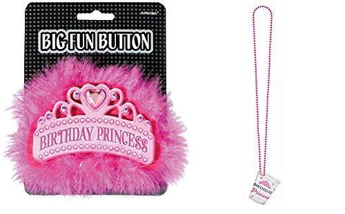 Birthday Princess Button and Shot Glass Necklace (Princess Shot Glass)
