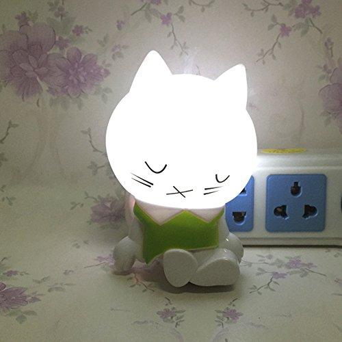 Shineme Cute Sleeping Cat Led Night Lamp 0 2w Light Sensor