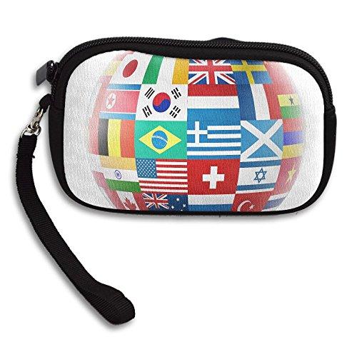 Receiving Purse Printing Black Flag Football Small Deluxe Portable Softheworld Bag twqwSX60n
