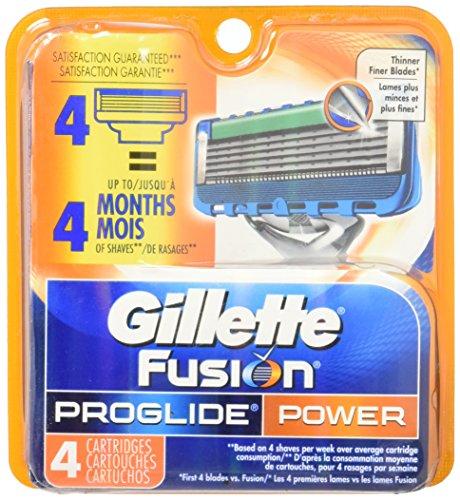 Gillette Fusion Proglide Power Razor blade 4pcs