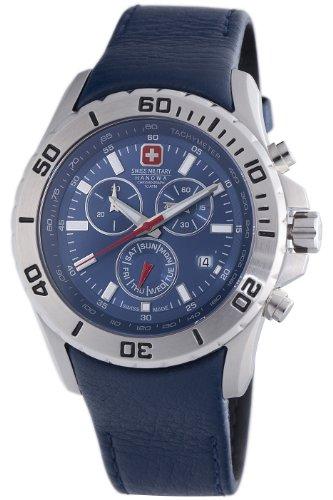 Swiss Military Hanowa Men's 06-4148-04-003 Marine Officer Chronograph Blue Dial Watch ()