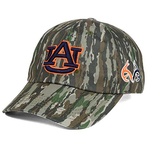 Top of the World Auburn Tigers Realtree College Logo Prey Easy Woodland Camo Slouch Strapback Dad Cap Hat