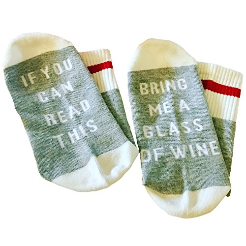 If You Can Read This Bring Me A Glass Of Wine Socks Warm, Cozy Valentine Gift for Wine Lovers - Glasses Me