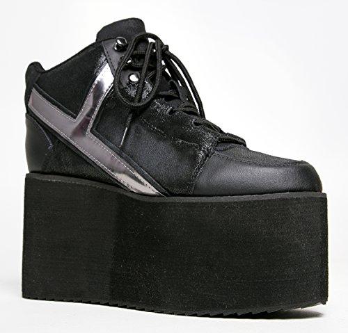 YRU Shoes QOZMO High Light Flatform Lace Up Sneaker