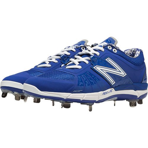 New Balance Hombres L3000v2 Metal Low Baseball Shoe Royal / Plateado
