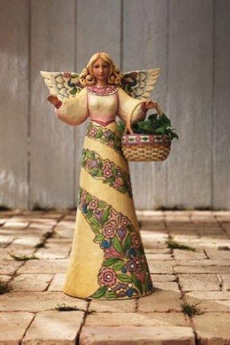 ENESCO Jim Shore Garden Angel With Basket Statue