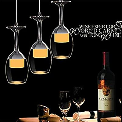 Life Ahead 3w LED Cup Chandelier Light Wineglass Pendant Lamp for Living Room Bar Saloon Dining Room Warm White Light