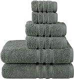 Josmon Towel Sets, 100% Cotton Bath Towels Set 6
