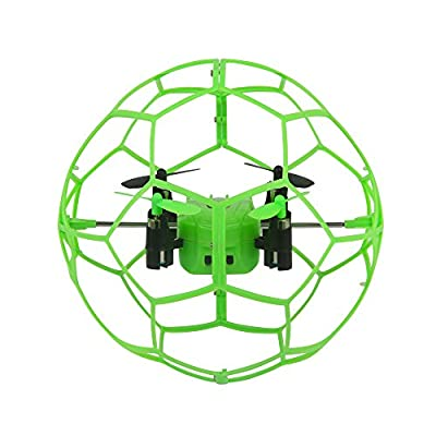 Dazhong STUNT DRONE 2.4GZ 4CH Mini Quadcopter Drones Helicopter w/6-Axis Gyroscope, Headless and Return Modes, Green/Orange Random, LED, for Beginners and Kids