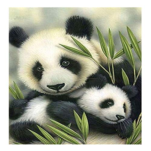 DIY 5D Diamond Painting Kit, Full Drill Animals Panda Rhinestone Painting Supplies for Home Wall Decor Painting Arts Craft (14
