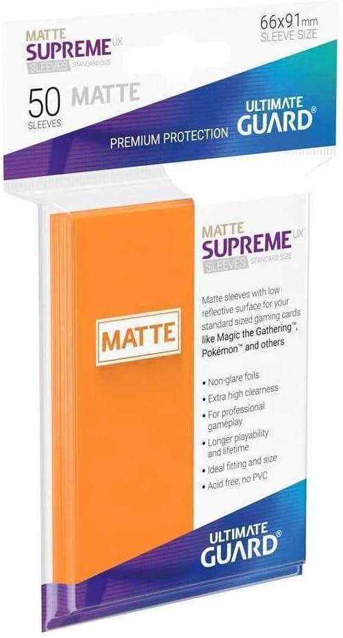 Standard Matte Orange Ultimate Guard UGD010825 Supreme UX Card Sleeves