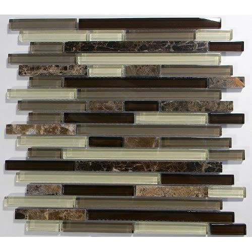 free shipping MS International Royal Oaks 12 in. x 12 in. Glass Blend Mesh-Mounted Mosaic Tile - SAMPLE LISTING - ONLY ONE ALLOWED PER HOUSEHOLD