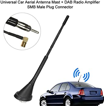 Antena Universal para Coche + Amplificador de Radio Dab SMA ...