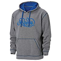 Ouray Sportswear Men's Alyeska Resort Transit Hoodie, X-Large, Charcoal Heather/Electric Blue