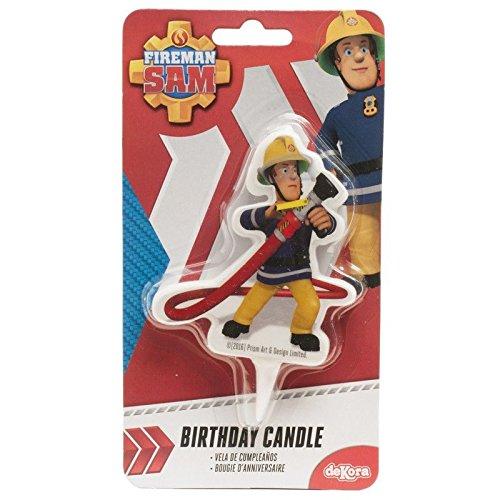 DEKORA Vela cumpleaños Sam el Bombero 2D: Amazon.es: Hogar