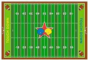 Fun Rugs FT 121 3958 Football Field Childrens Rug, 39 Inch By 58 Inch