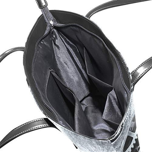 Bolso Piel De Para Tela Image Xianghefu Talla Sintética 115 Única Mujer PqAg14