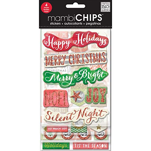 me & my BIG ideas mambiCHIPS Holiday Tags and Numbers Scrapbooking Supplies