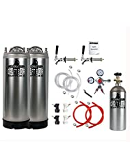 HomeBrewStuff Kegerator Conversion Kit With New Keg With Pro Series Regulator And CO2 Tank