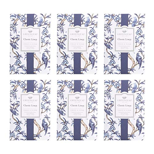 (GREENLEAF Large Scented Sachet - Classic Linen, 6-Pack)