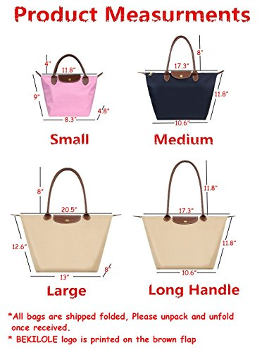 Travel Waterproof Beach Bag Tote Long Stylish Nylon BEKILOLE Handle Bags Burgundy Shoulder Women's Eq4Yx6