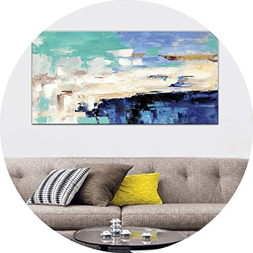 three thousand HD Print Canvas Painting Light Blue Landscape Abstract Oil Painting on Canvas Wall Art Bedroom Living Room Sofa Home Decoration,40x80cm no Frame