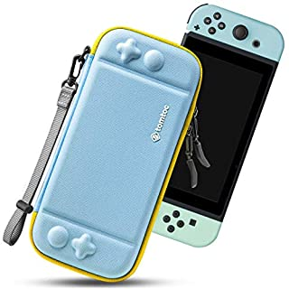 tomtoc Carry Case for Nintendo Switch, Ultra Slim Hard Shell with 10 Game Cartridges, Protective Carrying Case for Travel, with Original Patent and Military Level Protection
