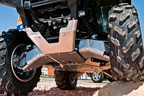 2016-2018 Yamaha Grizzly 700 10-Piece Complete Aluminum Skid Plate Set By Ricochet 9114F ()